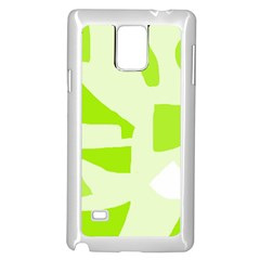 Green abstract design Samsung Galaxy Note 4 Case (White)