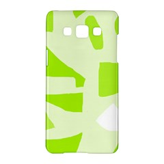 Green abstract design Samsung Galaxy A5 Hardshell Case