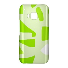 Green abstract design HTC One M9 Hardshell Case