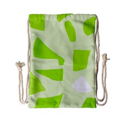 Green abstract design Drawstring Bag (Small)