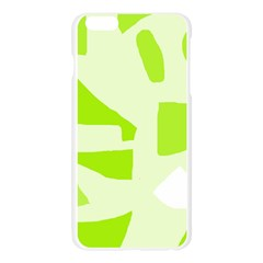Green abstract design Apple Seamless iPhone 6 Plus/6S Plus Case (Transparent)