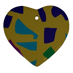 Colorful abstraction Ornament (Heart)