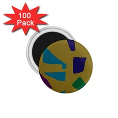 Colorful abstraction 1.75  Magnets (100 pack)