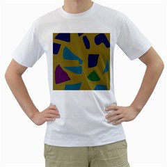 Colorful abstraction Men s T-Shirt (White) (Two Sided)