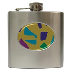 Colorful abstraction Hip Flask (6 oz)