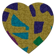 Colorful abstraction Jigsaw Puzzle (Heart)