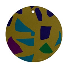 Colorful abstraction Round Ornament (Two Sides)