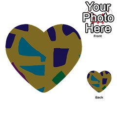 Colorful abstraction Multi-purpose Cards (Heart)