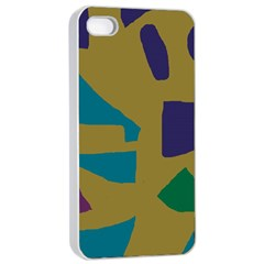 Colorful abstraction Apple iPhone 4/4s Seamless Case (White)