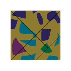 Colorful abstraction Acrylic Tangram Puzzle (4  x 4 )