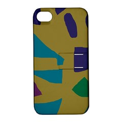 Colorful abstraction Apple iPhone 4/4S Hardshell Case with Stand