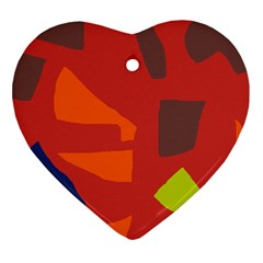 Red abstraction Ornament (Heart)