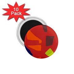 Red abstraction 1.75  Magnets (10 pack)