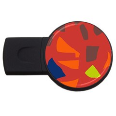 Red abstraction USB Flash Drive Round (1 GB)