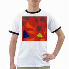 Red abstraction Ringer T-Shirts