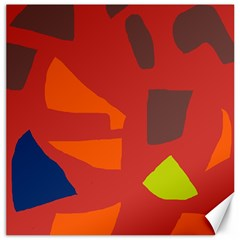 Red abstraction Canvas 12  x 12
