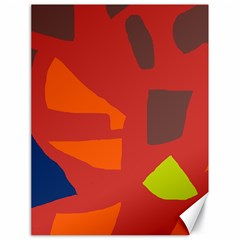 Red abstraction Canvas 18  x 24