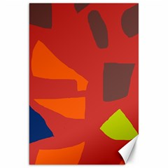 Red abstraction Canvas 20  x 30