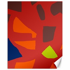 Red abstraction Canvas 11  x 14