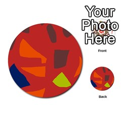 Red abstraction Multi-purpose Cards (Round)