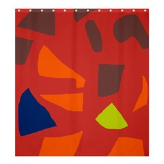 Red abstraction Shower Curtain 66  x 72  (Large)