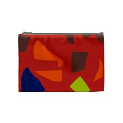 Red abstraction Cosmetic Bag (Medium)