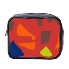 Red abstraction Mini Toiletries Bag 2-Side