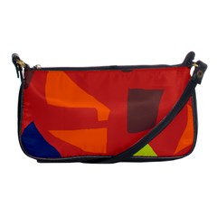 Red abstraction Shoulder Clutch Bags