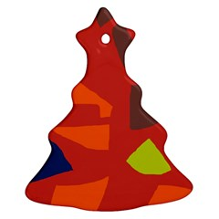 Red abstraction Christmas Tree Ornament (2 Sides)