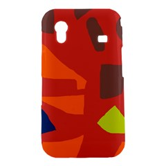 Red abstraction Samsung Galaxy Ace S5830 Hardshell Case