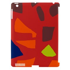 Red abstraction Apple iPad 3/4 Hardshell Case (Compatible with Smart Cover)