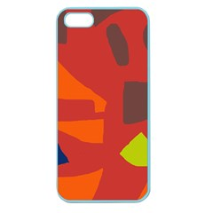 Red abstraction Apple Seamless iPhone 5 Case (Color)