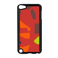 Red abstraction Apple iPod Touch 5 Case (Black)