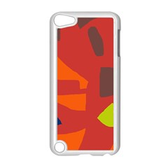 Red abstraction Apple iPod Touch 5 Case (White)