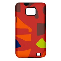Red abstraction Samsung Galaxy S II i9100 Hardshell Case (PC+Silicone)