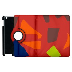 Red abstraction Apple iPad 3/4 Flip 360 Case