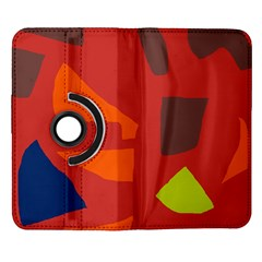 Red abstraction Samsung Galaxy Note II Flip 360 Case