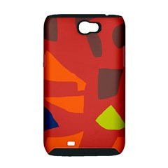 Red abstraction Samsung Galaxy Note 2 Hardshell Case (PC+Silicone)