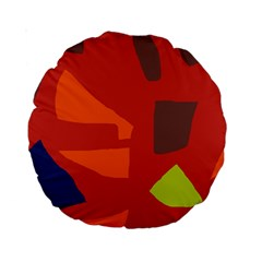 Red abstraction Standard 15  Premium Round Cushions