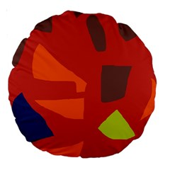 Red abstraction Large 18  Premium Round Cushions