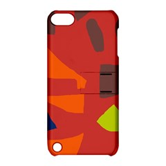 Red abstraction Apple iPod Touch 5 Hardshell Case with Stand
