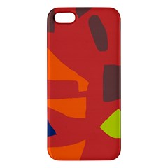 Red abstraction Apple iPhone 5 Premium Hardshell Case