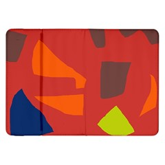 Red abstraction Samsung Galaxy Tab 8.9  P7300 Flip Case