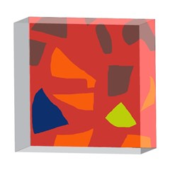 Red abstraction 5  x 5  Acrylic Photo Blocks