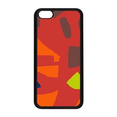Red abstraction Apple iPhone 5C Seamless Case (Black)