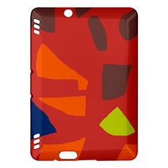Red abstraction Kindle Fire HDX Hardshell Case
