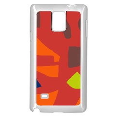 Red abstraction Samsung Galaxy Note 4 Case (White)