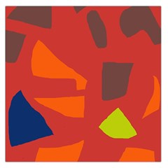 Red abstraction Large Satin Scarf (Square)