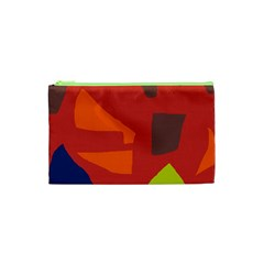 Red abstraction Cosmetic Bag (XS)