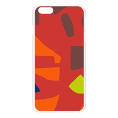 Red abstraction Apple Seamless iPhone 6 Plus/6S Plus Case (Transparent)
